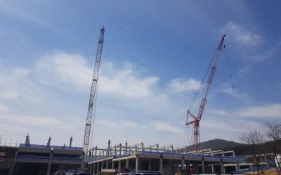 KCC 건설, 경기도 이천 현장에 크레인 충돌방지 시스템 도입