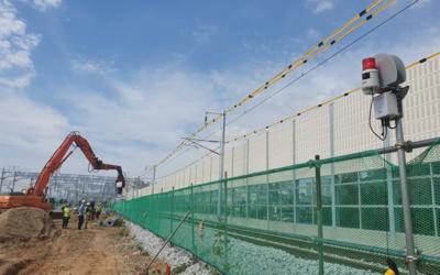 현대건설, 철도공사 현장 중장비 구역 이탈감지 시스템 도입