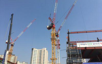 판교 알파돔 시티 건설 현장, 엠카스 오토(크레인 충돌 방지 시스템) 설치